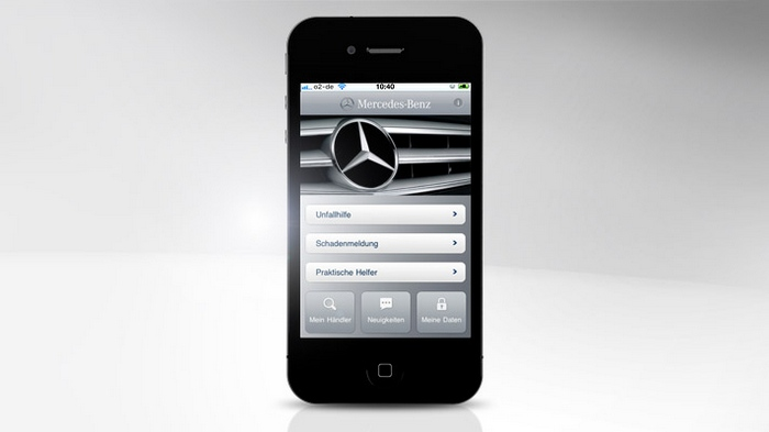 Mercedes-Benz Service iPhone App - Startseite