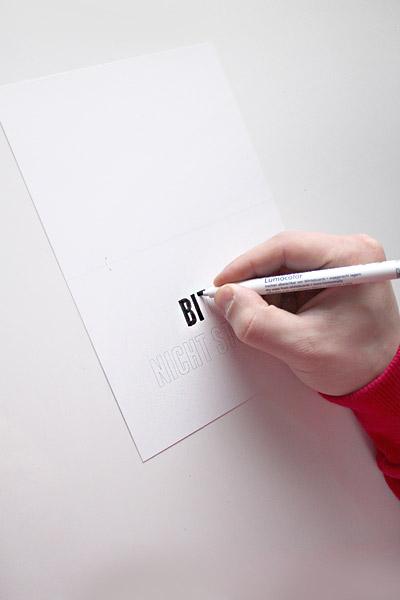 Weihnachtskarte von ulani - Bitte nicht stören - Schild